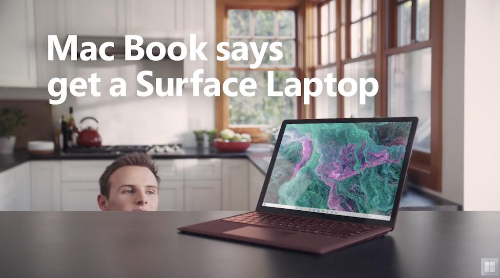 """Microsoft Werbespot: """"Mac Book"""" wirbt für das Surface Laptop 2 › Macerkopf"""