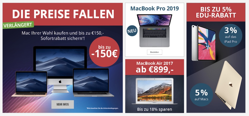 MacTrade erhöht Apple Bildungsrabatt auf 8 Prozent + 150 Prozent auf Macs › Macerkopf