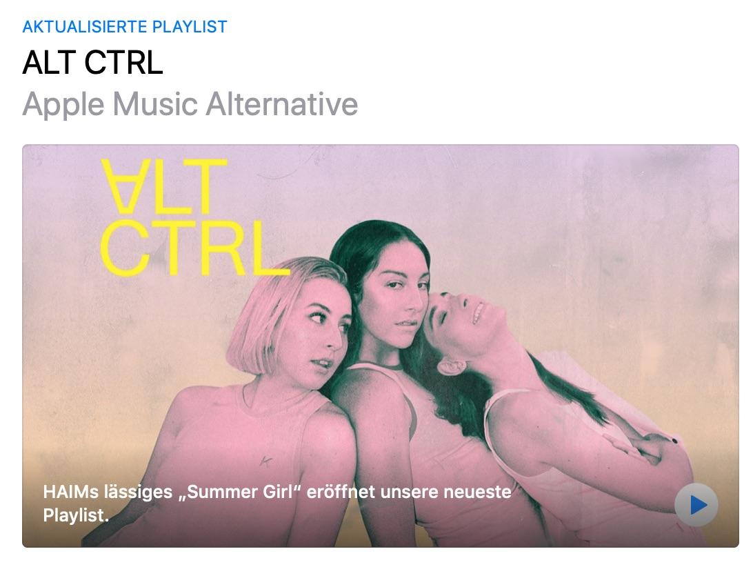 """Apple Music: Aus """"The A-List: Alternative"""" wird """"ALT CTRL"""" – Shot on iPhone Cover für Essentials › Macerkopf"""