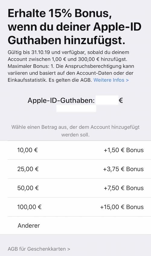 App Store: Apple schenkt euch erneut 15 Prozent Bonus-Guthaben › Macerkopf