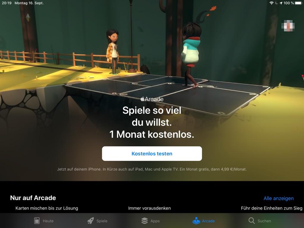 Apple schaltet Apple Arcade frei › Macerkopf