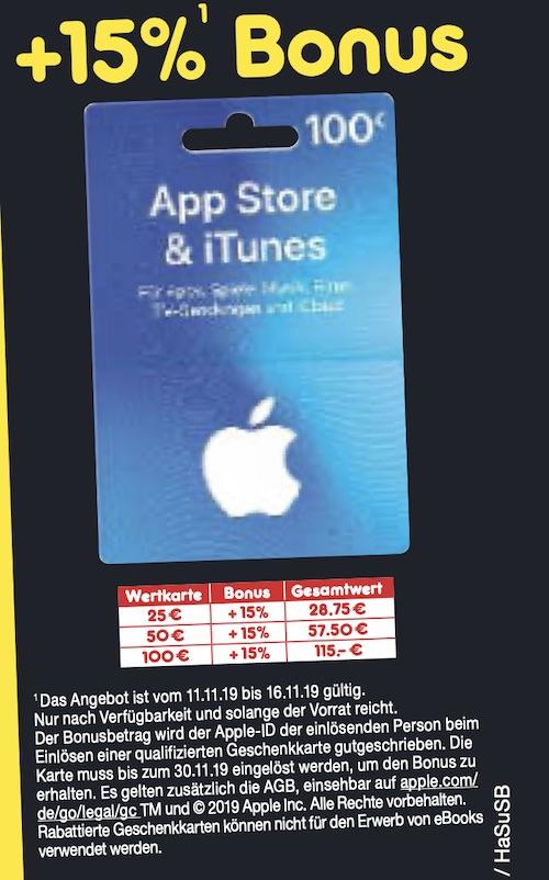 iTunes Karten günstiger: 15 Prozent Bonus bei Netto › Macerkopf