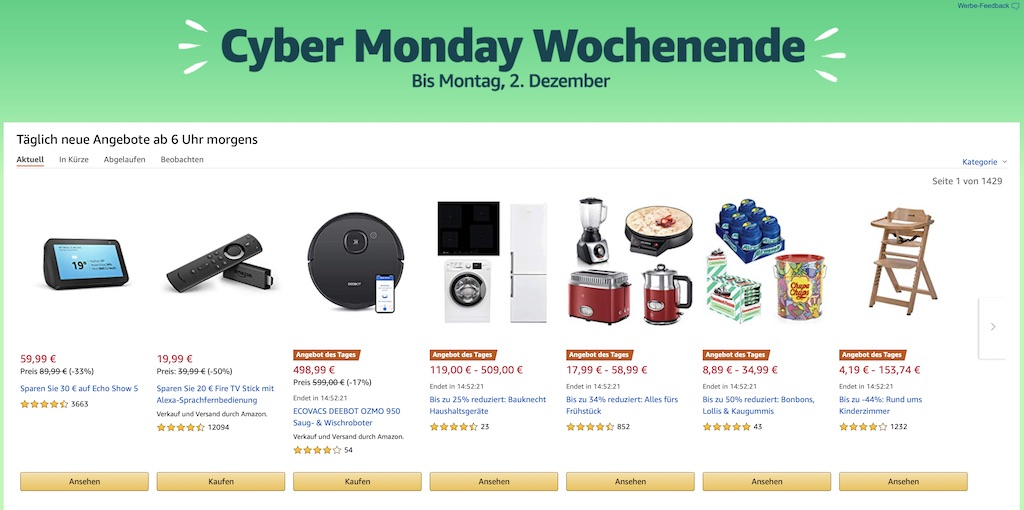 Amazon Cyber Monday Wochenende: Rabatt auf Smart Home, PayStation Plus, iRobot, iTunes Karten, Apple Magic Mouse 2 & Magic Keyboard, 4TB ext. Festplatte und mehr › Macerkopf