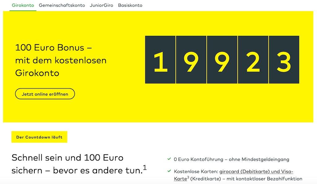 Comdirect: kostenloses Apple Pay Girokonto eröffnen + 100 Euro geschenkt bekommen › Macerkopf