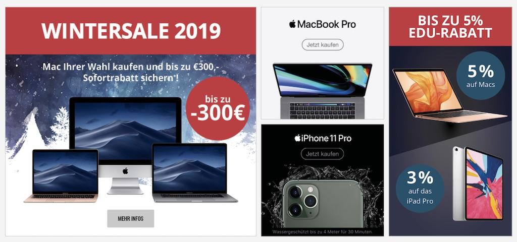 MacTrade Wintersale: bis zu 300 Euro Rabatt auf MacBook Air, MacBook Pro und iMac › Macerkopf