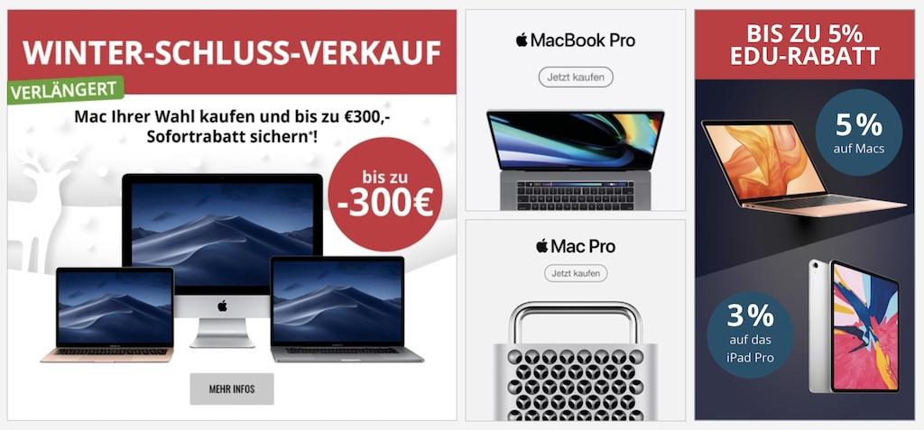 Bis Zu 300 Euro Rabatt Auf Macs + EDU-Rabatt: MacTrade