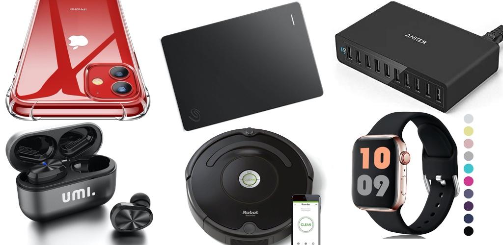 Amazon Blitzangebote: Rabatt auf 2TB + 5TB ext. Seagate Festplatte, iRobot, SSDs, kabellose Kopfhörer, Lautsprecher, USB-Ladegeräte, Apple Watch Armbänder und mehr