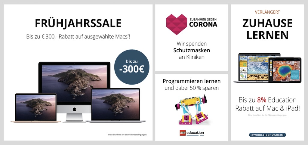 Bis zu 300 Euro Rabatt auf MacBook Air & Pro und iMac + 8 Prozent Apple Bildungs-Rabatt (MacTrade) › Macerkopf