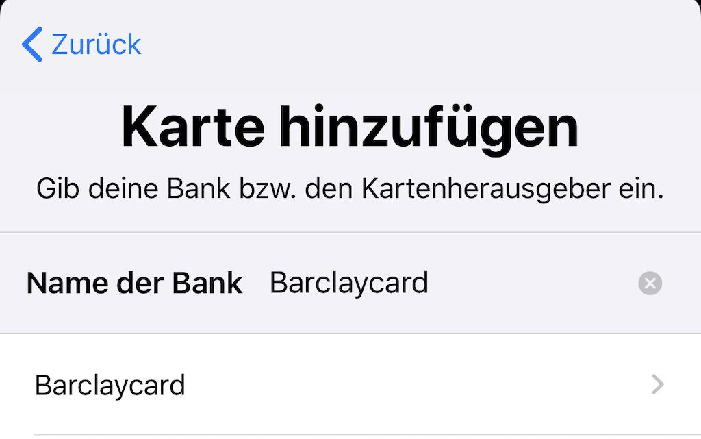 Apple Pay Barclaycard