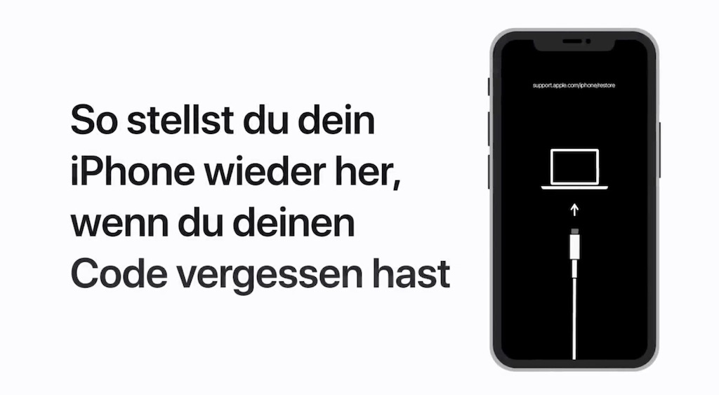 Tipp: So stellt ihr euer iPhone wieder her, wenn ihre euren Code vergessen habt › Macerkopf