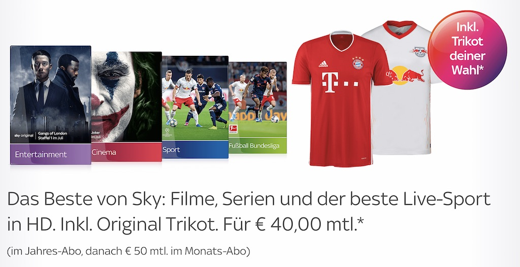 Sky Got Angebot