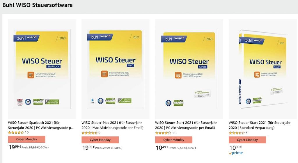 WISO Steuer 2021 fürs Steuerjahr 2020 nur 19,99 Euro (Mac ...