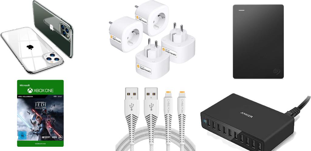 Amazon Blitzangebote: Rabatt auf 4TB ext. Festplatten, HomeKit-Steckdosen, USB-Ladegeräte, smarte Waagen, iPhone Hüllen, Apple Watch Armbänder und mehr › Macerkopf