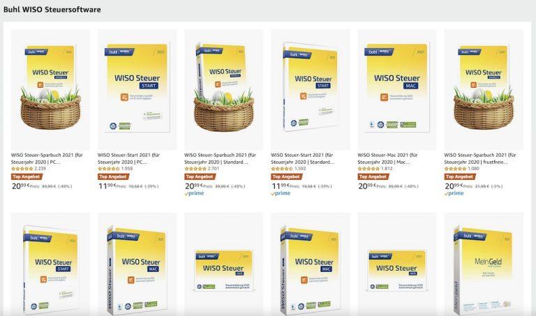 WISO Steuer 2021 für Mac und PC als Amazon Oster Angebot ...