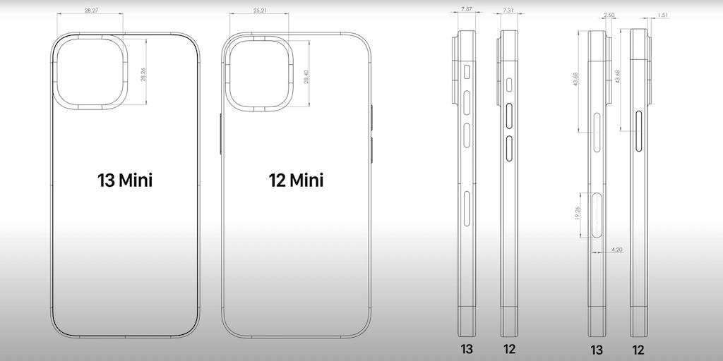 iPhone 13 (Pro): CAD-Skizzen zeigen größere Kamera
