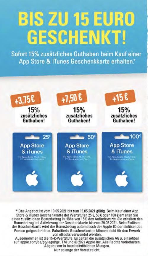 iTunes Karten bei Edeka günstiger: 15 Prozent Bonus-Guthaben › Macerkopf
