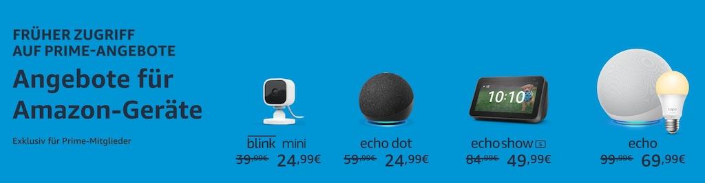 Prime Day 2021: Echo, Echo Dot, Echo Show, Blink mini und Co. bereits im Preis reduziert